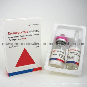 Esomeprazol de droga eficaz anti úlcera para injeção 40mg