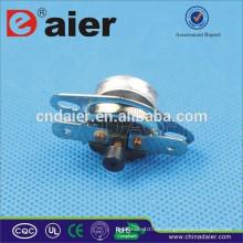Termóstato Daier KSD301 (250V / 10A) 10 / 15A 2 Poste de alineación KCD301M-OF1 50 ~ 180 grados de restablecimiento manual