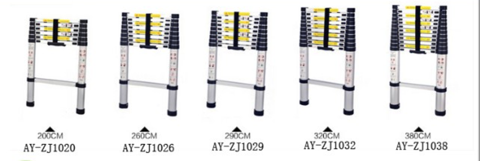 aluminum telescopic ladder (10)