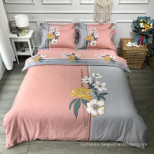 Home Bedding Cheap Price Bedding Cotton Fabric Soft for King Bed Sheet Set