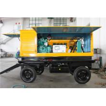 Дизельный генератор мощностью 120 кВт с прицепом передвижного типа