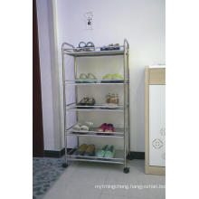 4 layer kitchen rack metal chrome shelf storage organizer