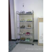 4 слой шкаф кухни металла крома полки для хранения организатор
