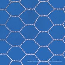 Malha de arame hexagonal galvanizado após tecelagem