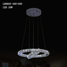 led modern chandelier multi crystal pendant light