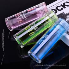 Botella de agua de vidrio con tapa clásica a prueba de fugas