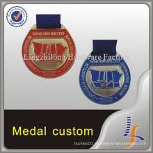 Medalla personalizada de natación redonda canadiense
