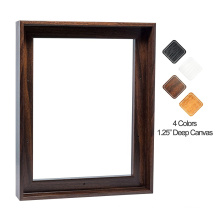 Factory Supply Customized 9X12  Dark Brown Wooden Picture Wall Art Painting Stretcher Canvas Frame for home decoration