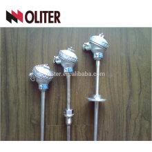 Tipo económico económico de egt egt termopar industrial angulado estándar con la abrazadera para el regulador de temperatura de las refinerías de petróleo