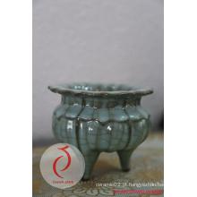 Melhor venda Fancy Design Blue Glazed em relevo cerâmica Censer Made in Longquan