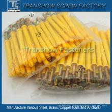 Âncora de acionamento de martelo de plástico amarelo