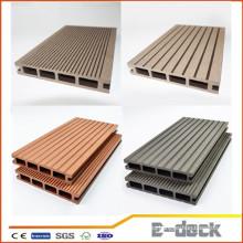 Nueva textura de madera de las técnicas buen precio WPC suelo al aire libre cubierta de madera compuesto plástico