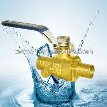 lead free Pex full port brass ball valves with drain PEX*Sweat LF
