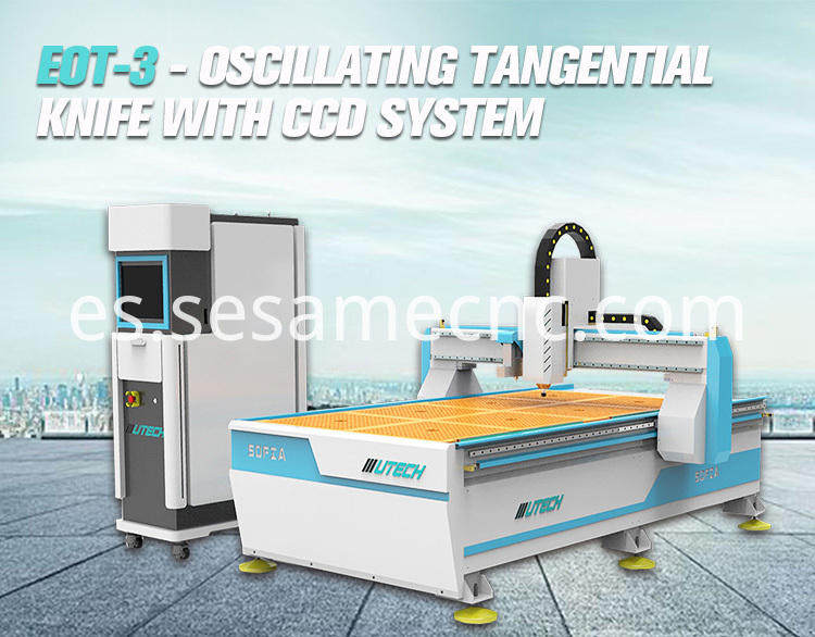 Oscillating Foam Cutter Machine with CCD Edge