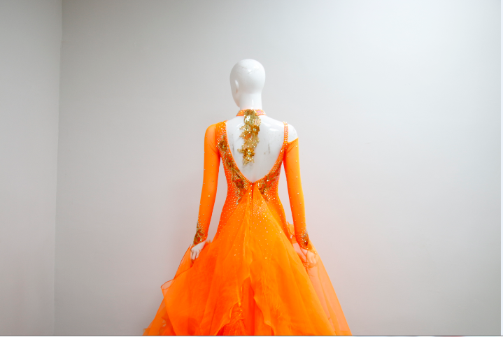 Orange Ballroom Dance Costumes