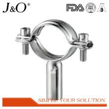 Suporte de tubos sanitários de aço inoxidável com base