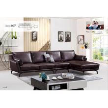 Simple Italy designs L shape leather sofa