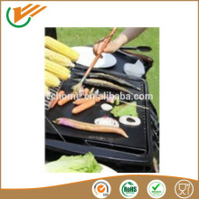 Custiom size Super Non stick bbq grill mat black fiber glass fabric coated ptfe teflon for oven