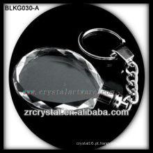 chaveiro de cristal em branco de alta qualidade