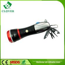 Con el martillo de la emergencia 3W LED y 4 LED rojo llevó la linterna potente