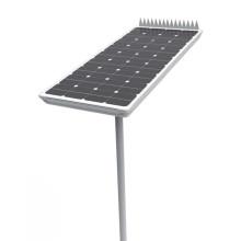 Poste de luz solar inteligente integrado