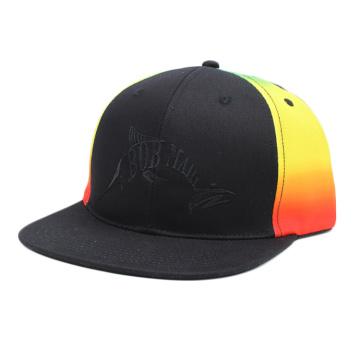 sombrero de copa plano de snapback teñido anudado