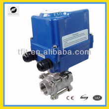 CTF-004 24V DC Electric ball valve,pvc electric actuator ball valve,pvc ball valve