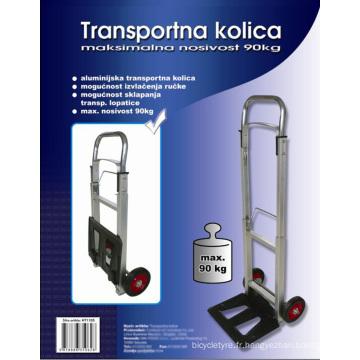 Pliage à main Trolley Ht1105, chariot en Aluminium, panier