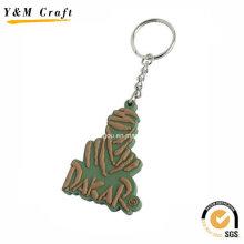 Design 3D personalizado silicone borracha chave tags Ym1130