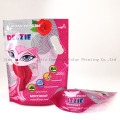 Plastic Cat Litter Packaging Bag with Zipper and Handle Hole