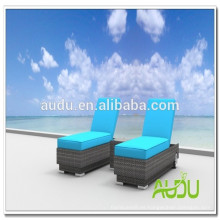 Audu Ocio Resina de mimbre de doble silla de sol