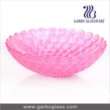 Bol de fruits de couleur rose de 12 po (GB1610YD / DGS)