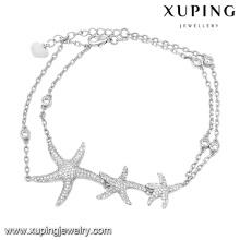 74615 moda elegante pulseira de jóias de zircônia cúbica na cor do ródio