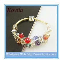Fahionable bijoux bijoux en cristal autrichien en gros bracelet en argent sterling 925