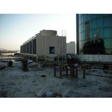 Equipo de refrigeración Material de FRP Cruz flujo Rectangular Cooling Tower Jn-6400UL / M