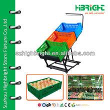 Supermarkt Obst und Gemüse Rack