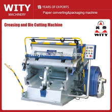 flat bed creasing and die cutting machine
