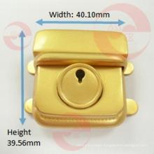 Leather Hot Sale Zinc Alloy Metal Rectangle Push Lock