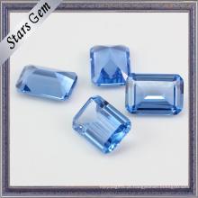 Octagon Emerald Cut # 119 Spinel Azul Claro Safira Sintética