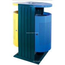 Escaninho waste ao ar livre classificado reciclado perfurado do metal (DL97)