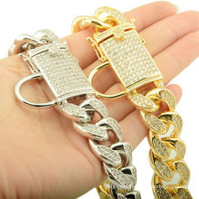 Factory Drop Shipping 18mm Pet Dog Collar Pet Supplies Dog Chains P Chain For Rottweiler Doberman Bully Accessories