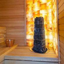Popular y hermosa sala de sauna tradicional con revestimiento de cedro rojo