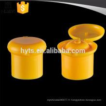 24/415 28/415 forme de champignon flip top plastique personnalisé bouchon de bouteille