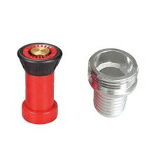 Boquilla de manguera de incendios, 1-1 / 2 en negro con acoplamiento rápido de aluminio