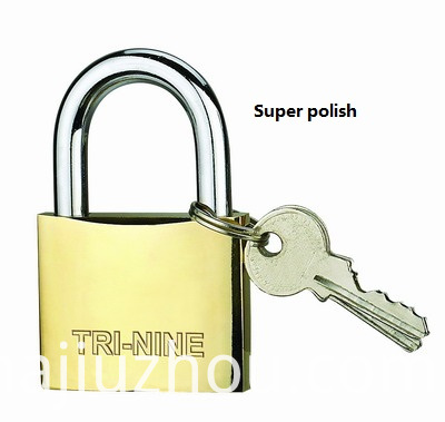 THICK BRASS PADLOCK-SUPER POLISH-400