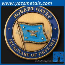 personalizar moedas de metal, secretário de defesa personalizado Robert Gates desafio moeda