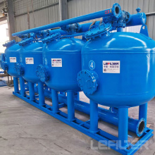 Filtro de arena poco profundo para tratamiento de agua de refrigeración