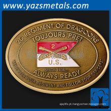 Fivela de cinto personalizada do exército de cobre