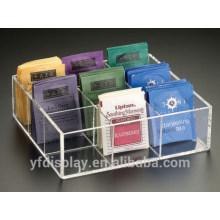 Neun Fliesen Klare Acryl Teebeutel Box
