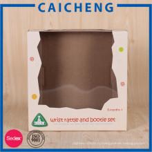 Подгонянный детская игрушка напечатанная бумажная коробка логотип с окном PVC